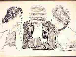Charles Dana Gibson Print dated 1903, 14