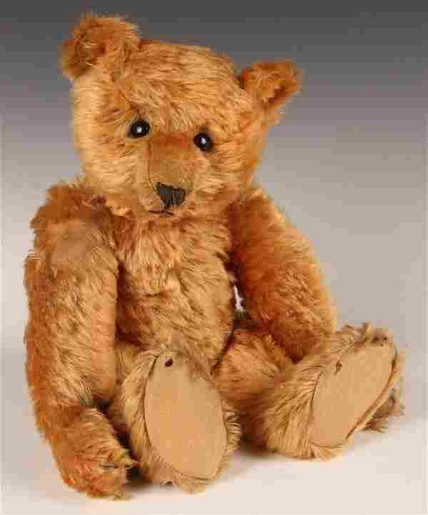 RARE CA. 1905 STEIFF TEDDY BEAR IN APRICOT MOHAIR