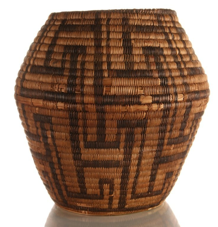AN 11-INCH PIMA INDIAN BASKETRY VASE