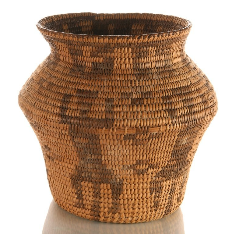 PIMA BASKETRY OLLA WITH FIGURES