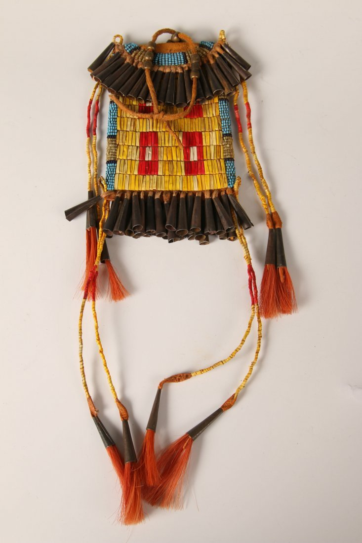 PLAINS STRIKE-A-LITE POUCH WITH QUILL DECORATION