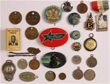 LOT OF RAILROAD RELATED PIN BACK BUTTONS