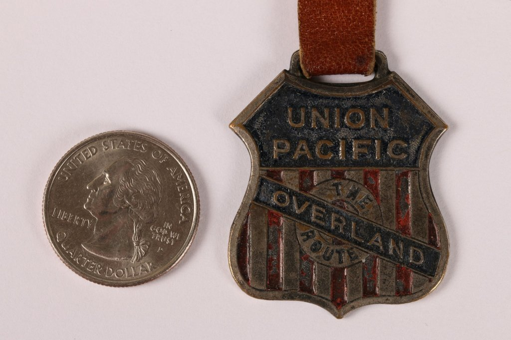 UNION PACIFIC RAILROAD OVERLAND ROUTE WATCH FOB - 2
