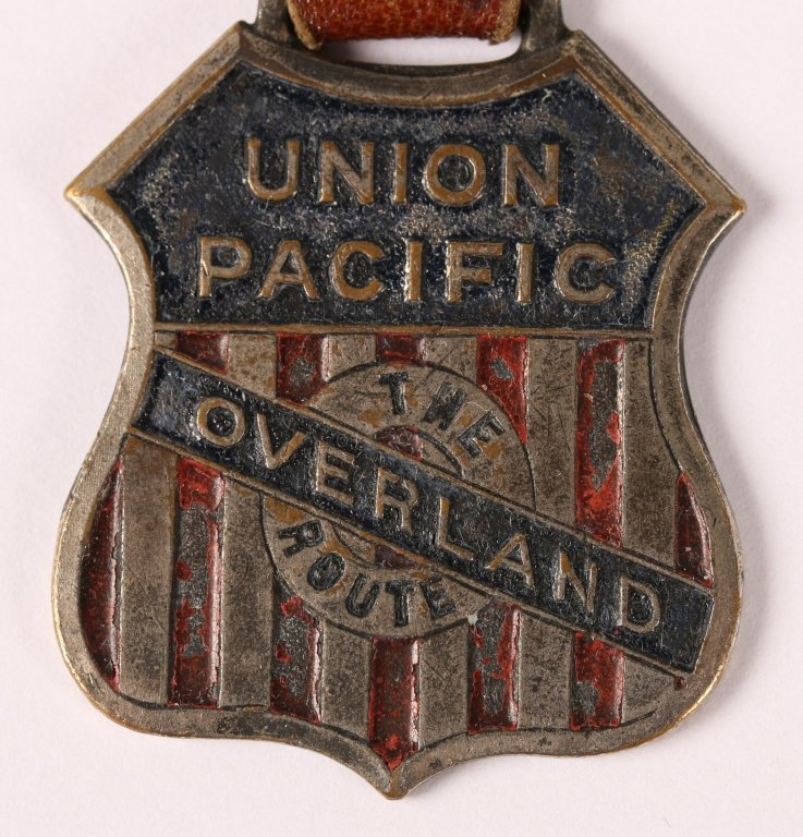 UNION PACIFIC RAILROAD OVERLAND ROUTE WATCH FOB - 3