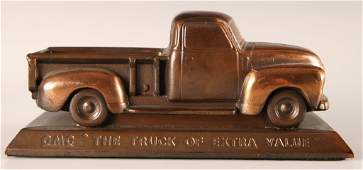 1950s GMC PICKUP TRUCK ADVERTISING DESK PIECE