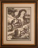 THOMAS HART BENTON 18891975 PENCIL SIGNED LITHOGRAPH