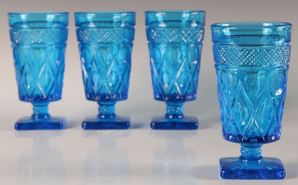 FOUR IMPERIAL CAPE COD FOOTED ICE TEA GLASSES