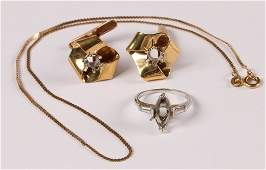 LOT OF GOLD ESTATE JEWELRY ONE