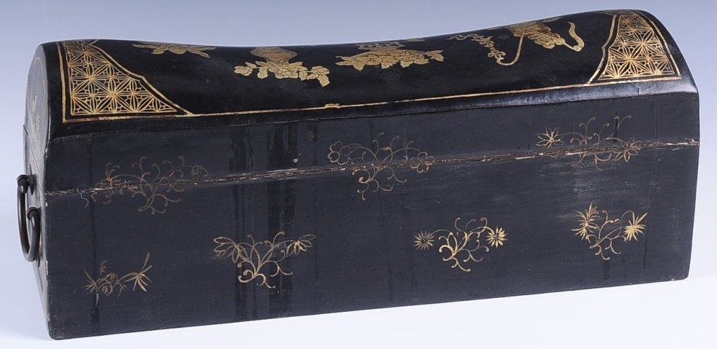 CHINESE lACQUER HEAD REST BOX - 3