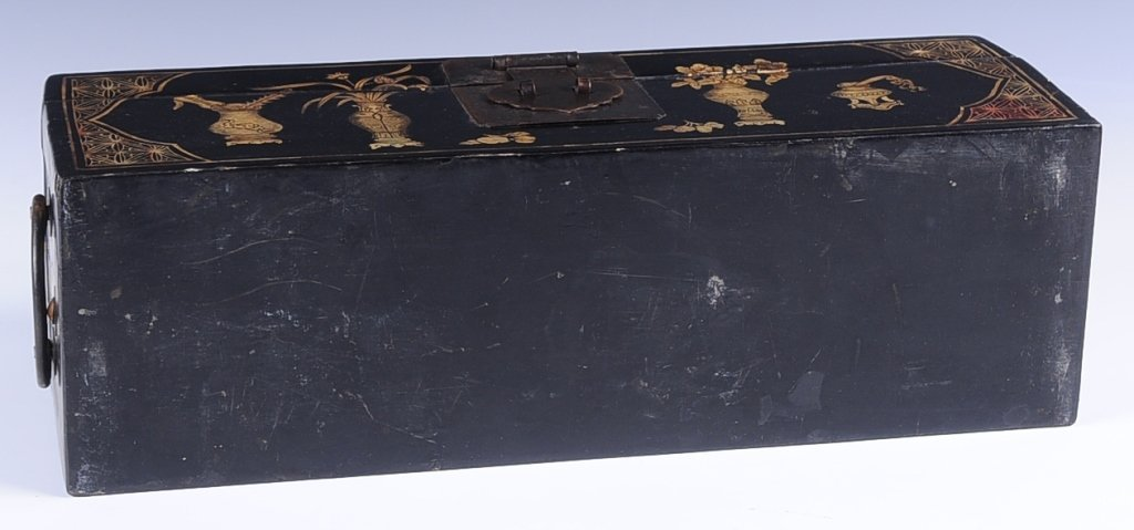 CHINESE lACQUER HEAD REST BOX - 5