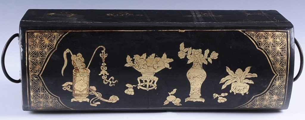 CHINESE lACQUER HEAD REST BOX - 7