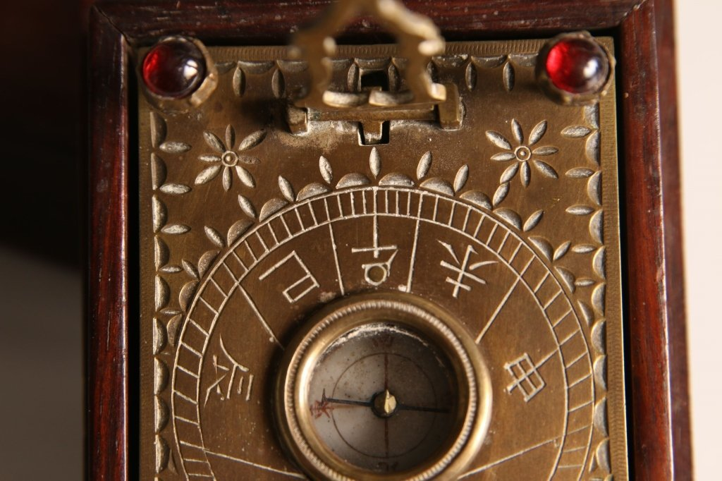 ANTIQUE JAPANESE POCKET SUNDIAL COMPASS - 3