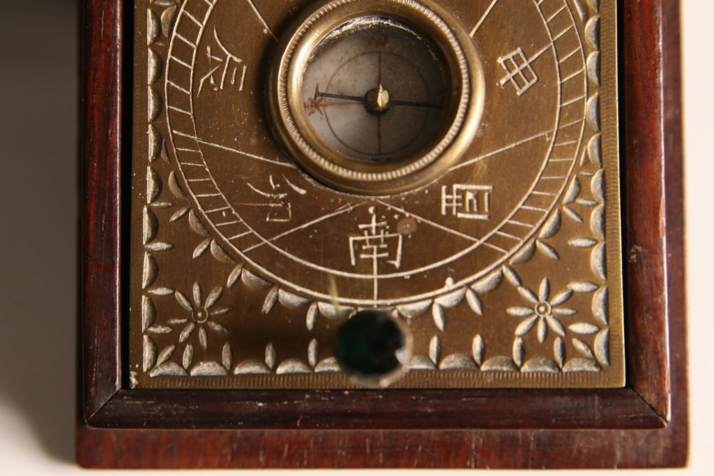 ANTIQUE JAPANESE POCKET SUNDIAL COMPASS - 4
