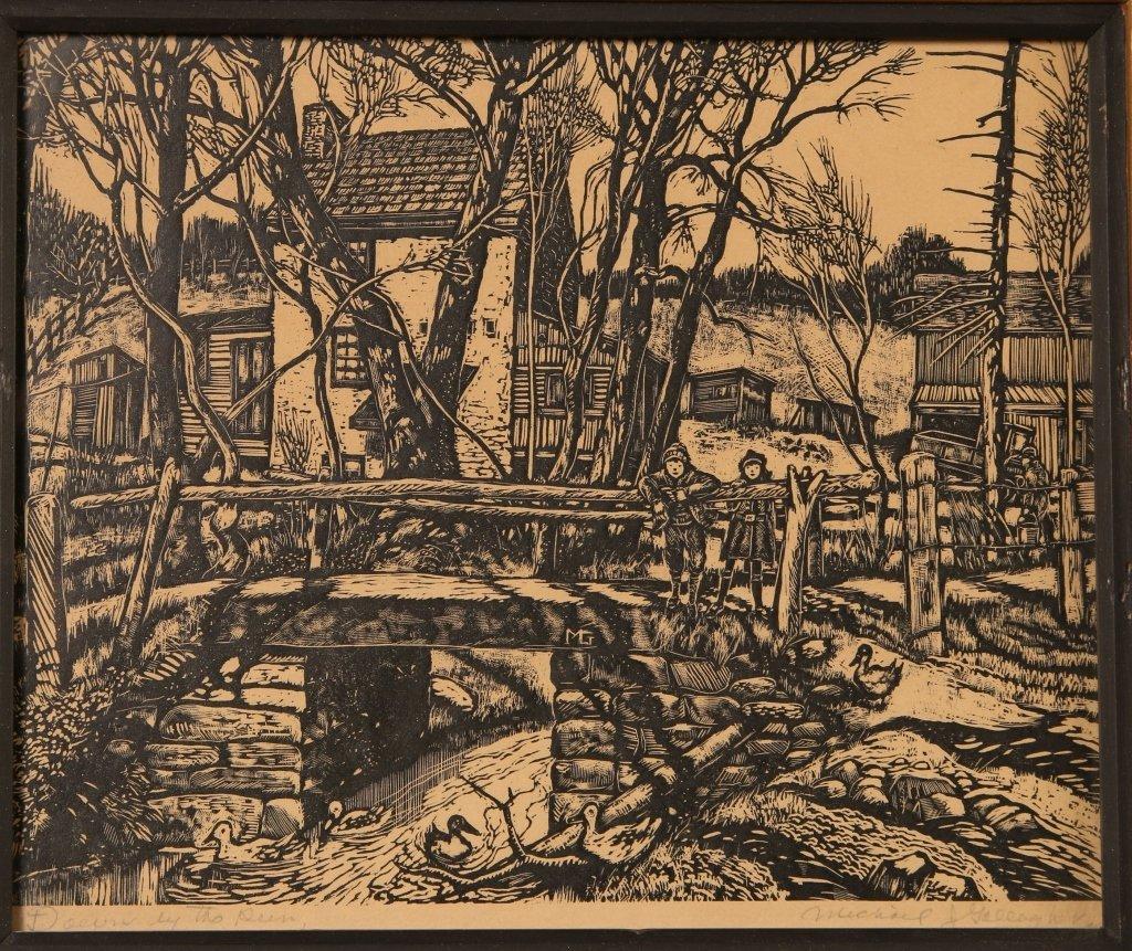 MICHAEL J. GALLAGHER (1898-1965) WOODBLOCK PRINT - 2