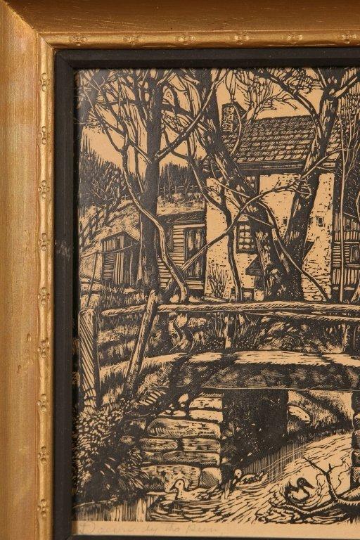 MICHAEL J. GALLAGHER (1898-1965) WOODBLOCK PRINT - 3
