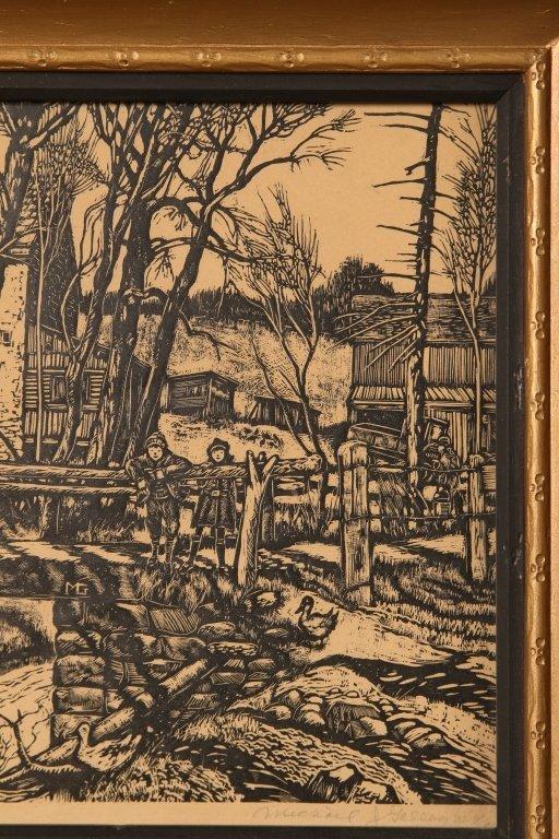 MICHAEL J. GALLAGHER (1898-1965) WOODBLOCK PRINT - 4