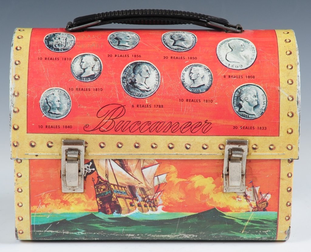1957 BUCCANEER DOME LUNCH BOX WITH THERMOS