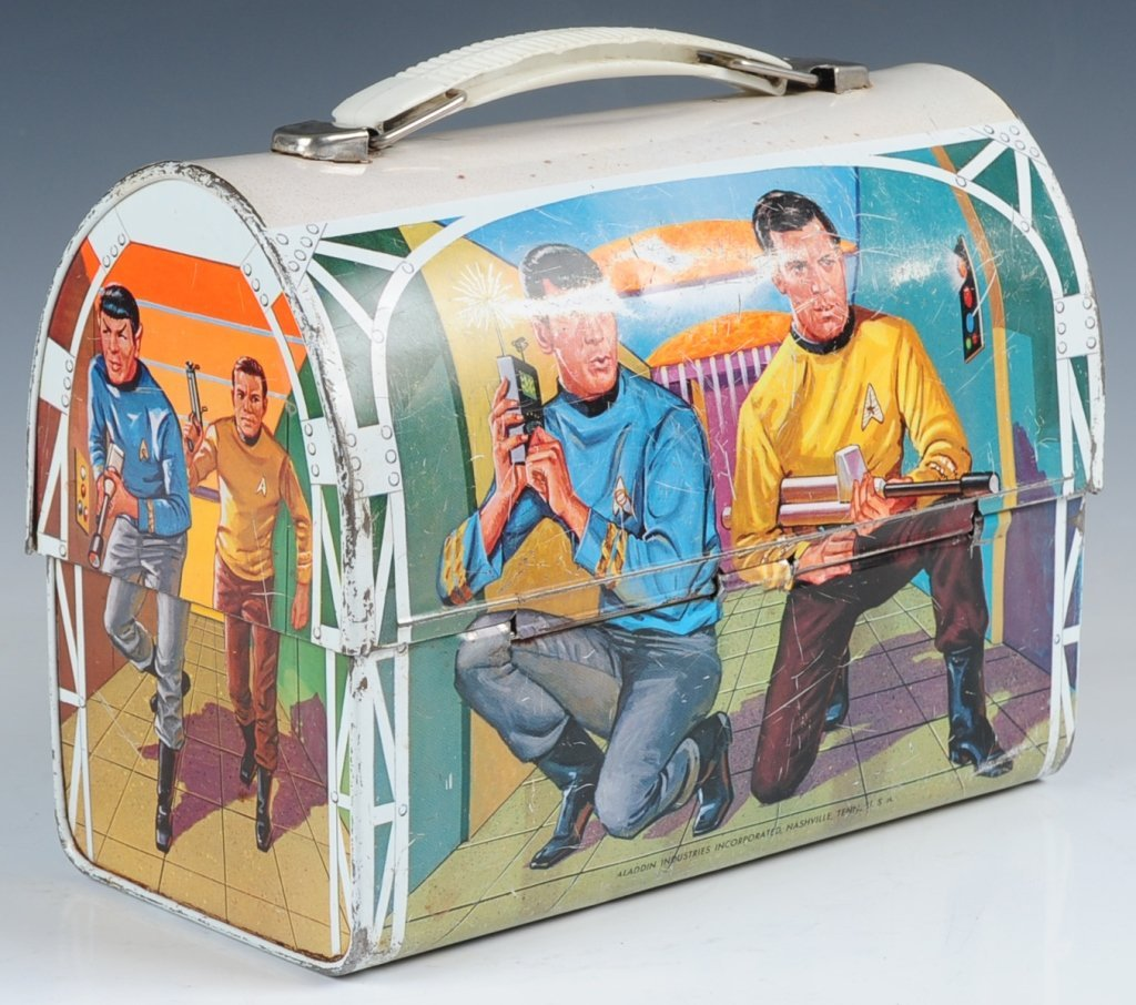 1968 STAR TREK DOME LUNCH BOX WITH THERMOS - 3