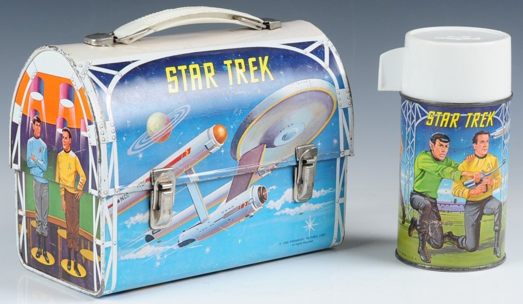 1968 STAR TREK DOME LUNCH BOX WITH THERMOS - 6