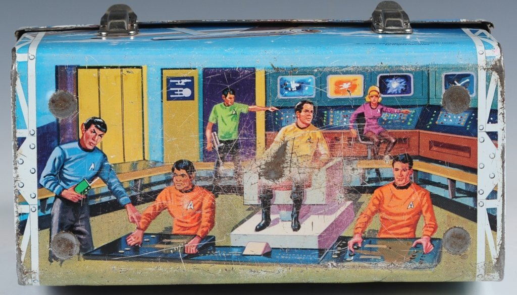 1968 STAR TREK DOME LUNCH BOX WITH THERMOS - 7