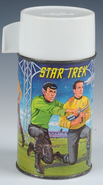 1968 STAR TREK DOME LUNCH BOX WITH THERMOS - 8