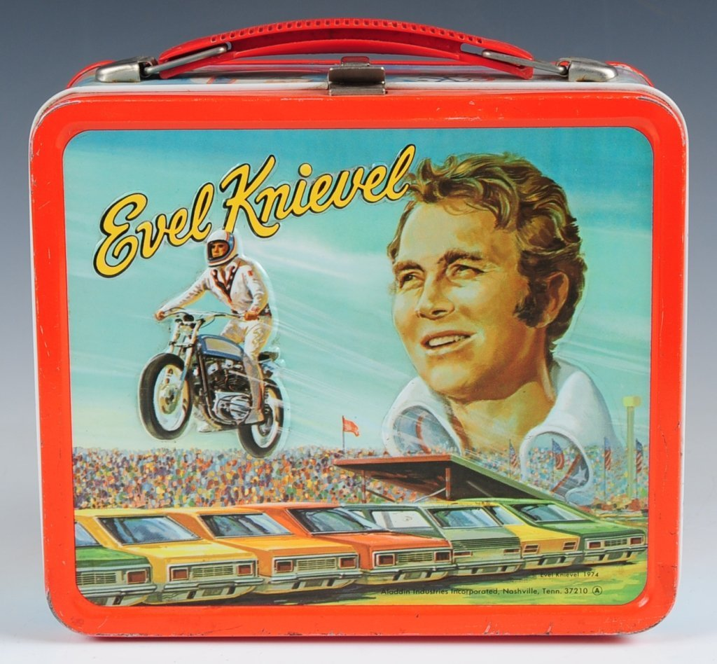 1974 EVEL KNIEVEL LUNCH BOX