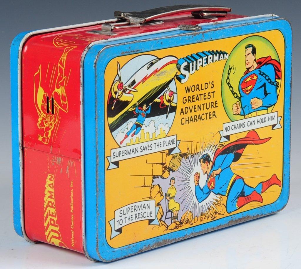 1954 SUPERMAN LUNCH BOX - 3