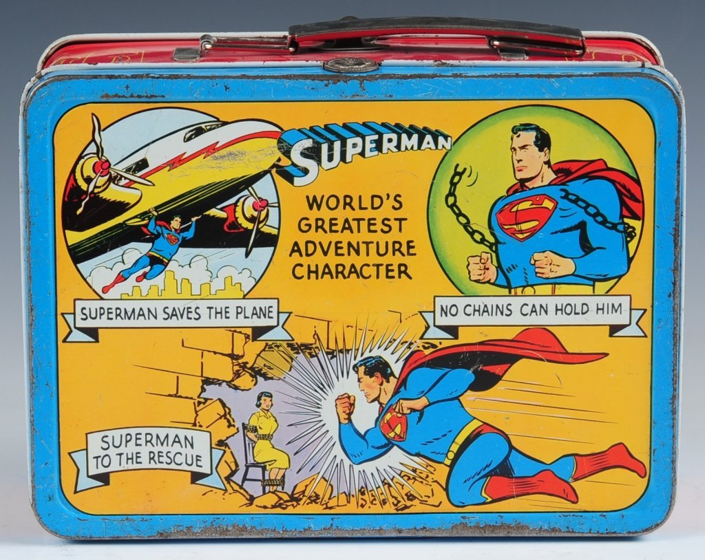 1954 SUPERMAN LUNCH BOX - 4