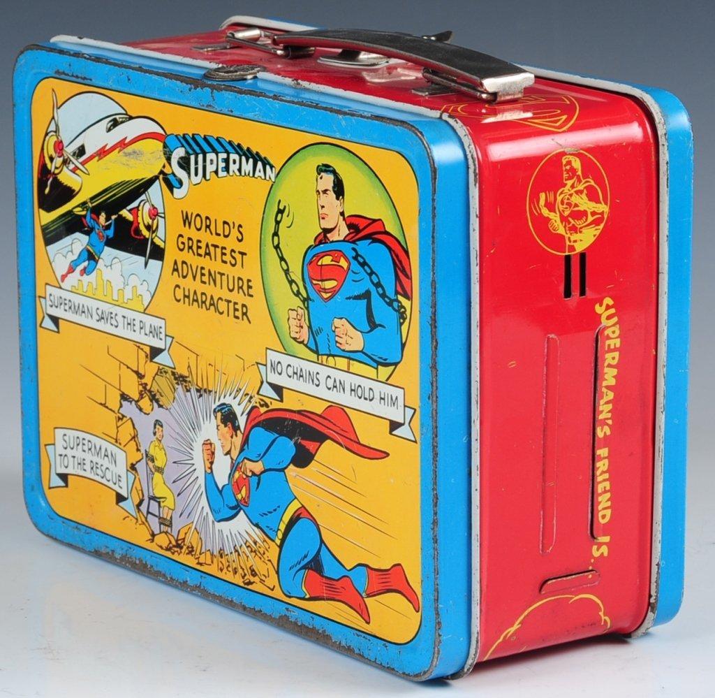 1954 SUPERMAN LUNCH BOX - 5