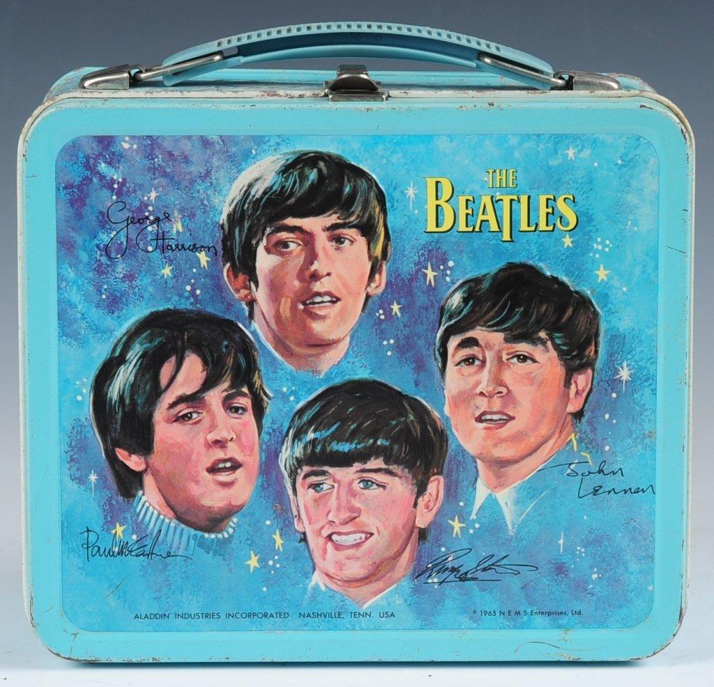 1965 BEATLES BLUE LUNCH BOX