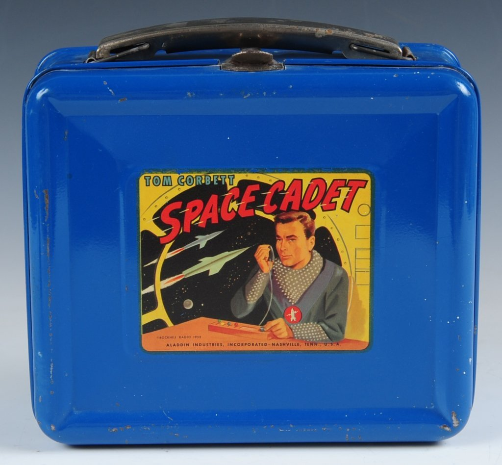 1952 TOM CORBETT SPACE CADET BLUE LUNCH BOX