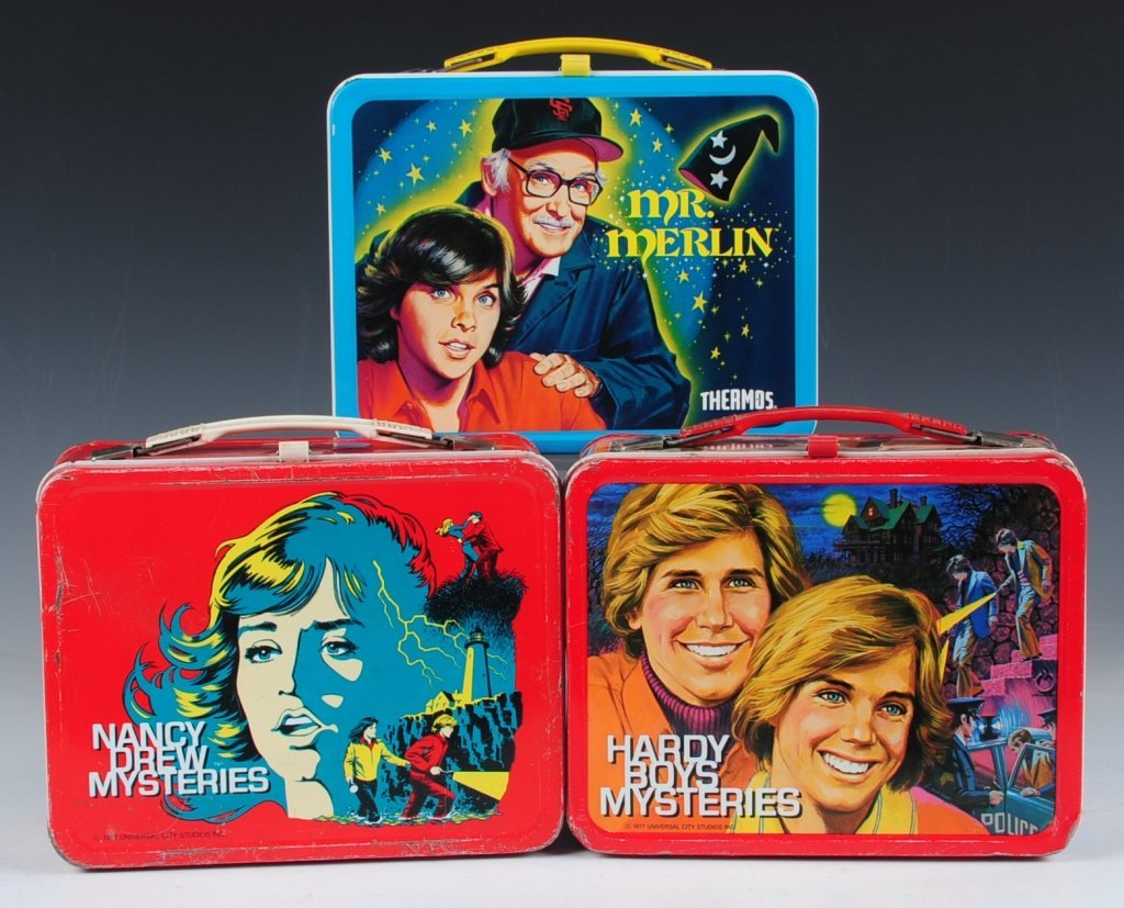 THREE LATE 70s/EARLY 80s TV SHOW THEMED LUNCH BOXES
