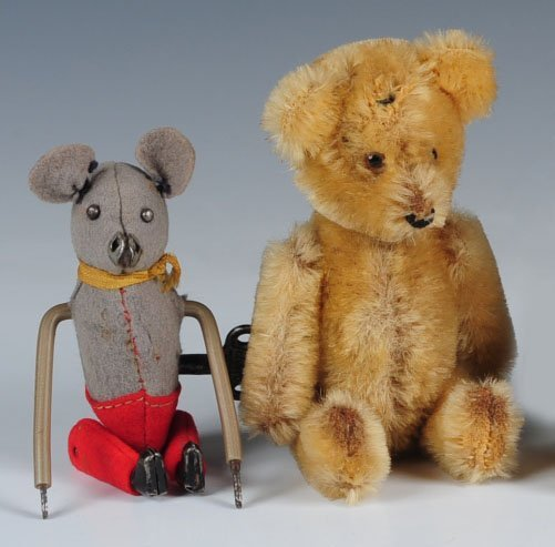 SCHUCO TUMBLING MOUSE AND A VINTAGE YES-NO BEAR