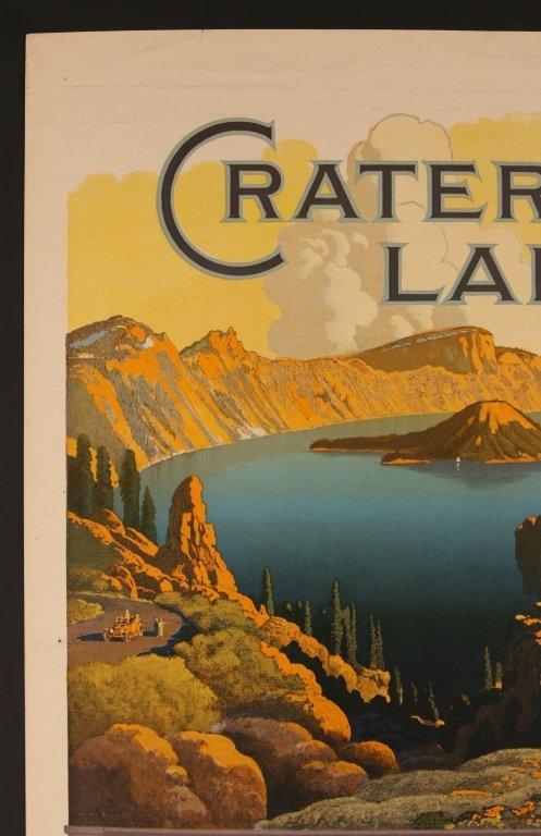 EARLY 1920s SOUTHERN PACIFIC RR POSTER FOR CRATER LAKE - 2