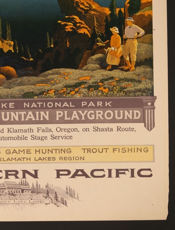 EARLY 1920s SOUTHERN PACIFIC RR POSTER FOR CRATER LAKE - 4