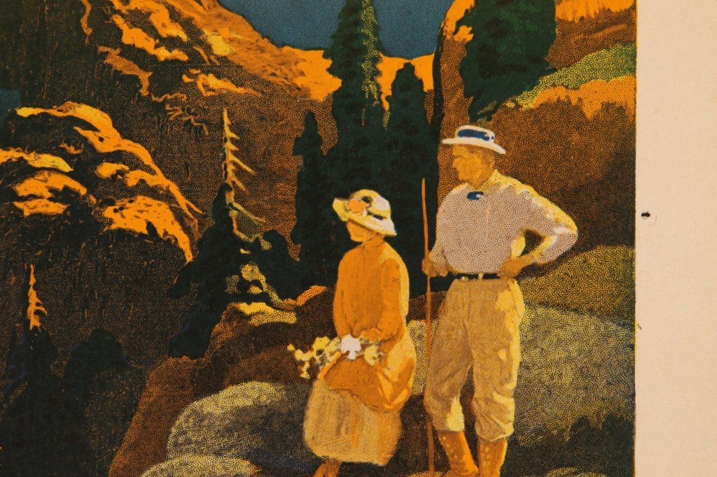 EARLY 1920s SOUTHERN PACIFIC RR POSTER FOR CRATER LAKE - 8