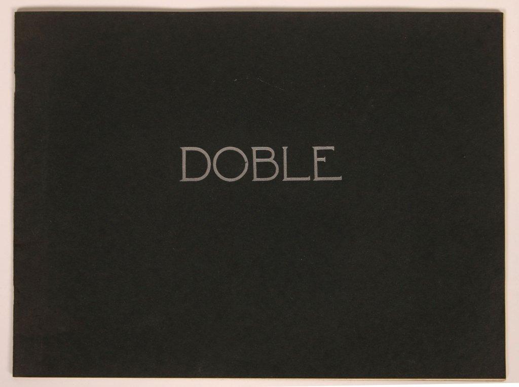 1920s DOBLE STEAM CAR SALES BOOKLET