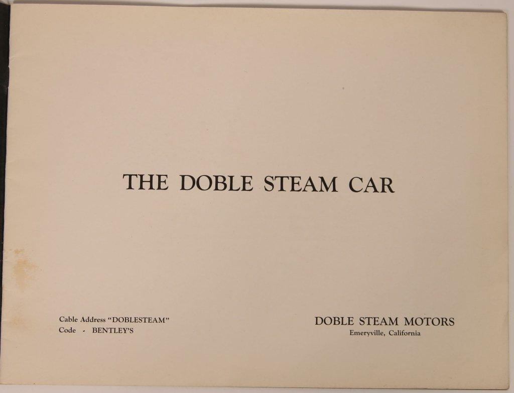 1920s DOBLE STEAM CAR SALES BOOKLET - 2