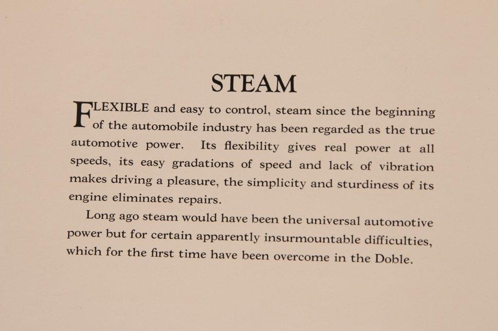 1920s DOBLE STEAM CAR SALES BOOKLET - 3
