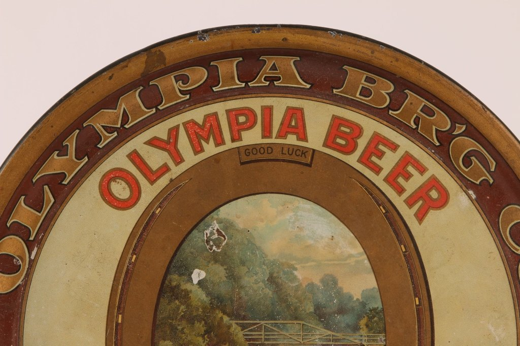 PRE-PROHIBITION OLYMPIA BEER TIN LITHO TRAY - 2