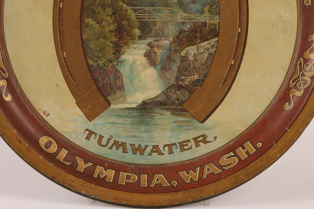 PRE-PROHIBITION OLYMPIA BEER TIN LITHO TRAY - 4