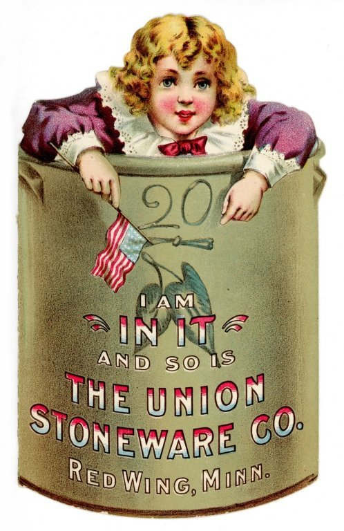 RARE RED WING STONEWARE DIE CUT TRADE CARD
