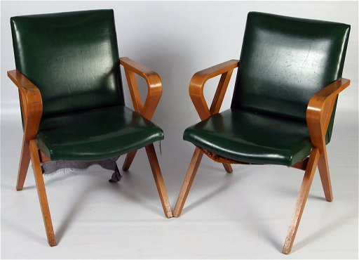 Outstanding Pair Thonet Bent Wood Arm Chairs Circa 1940 Spiritservingveterans Wood Chair Design Ideas Spiritservingveteransorg