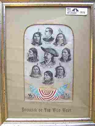 Rare Buffalo Bill Stevengraph, STG#?