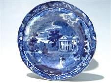 140: Two Joseph Stubbs Blue Staffordshire Transferware,