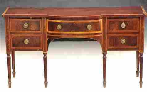 144: Period Sheraton American Sideboard, Circa 1810