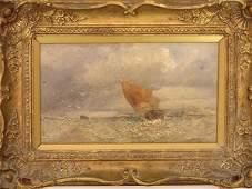 178: Oil on Board Attributed To Richard Beavis (1824-18