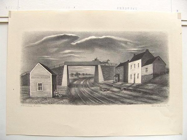 239: Albert Heckman (1893-1971) Pencil Signed Lithograp