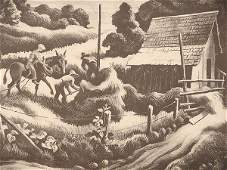 280 Thomas Hart Benton 18891975 Pencil Signed Litho