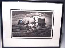 281 Thomas Hart Benton 18891975 Pencil Signed Litho
